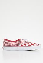 Vans - Authentic - red & white