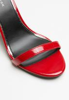 New Look - Ankle strap block heel - red