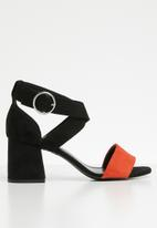 New Look - Ankle strap heel - black & orange
