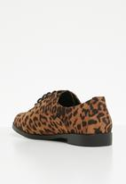 New Look - Leopard print brogue - black & brown