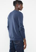 Superbalist - Regular fit high neck knit - blue