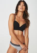 Cotton On - Sporty femme contour bra - black