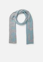 Superbalist - Slogan scarf - grey & blue