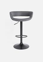 Sixth Floor - Grace barstool gas - dark grey