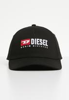 Diesel  - Cakerym-max curved peak cap - black