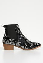 Jada - Cowboy ankle boot - black