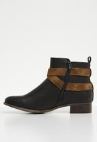 Miss Black - Buckle ankle boot - black