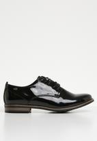Miss Black - Lace up derby shoe - black