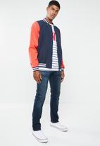 Levi's® - Baker bomber jacket - navy & coral
