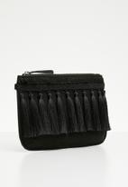 New Look - Tiffany tassel clutch - black