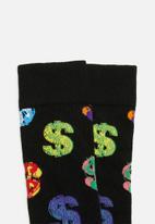Happy Socks - Andy Warhol dollar socks - black