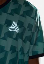 adidas Performance - Tango AOP jersey top - green & white