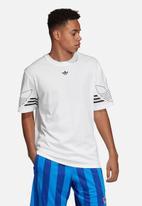 adidas Originals - Outline short sleeve crew tee - white