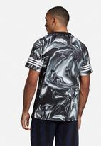 adidas Performance - Md marble jersey tee - black & white
