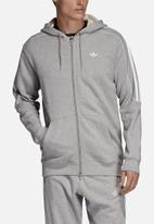 adidas Originals - Radkin full zip hoodie - grey & white