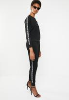Brave Soul - Sweatshirt with side tape - black