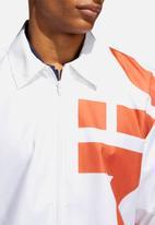 adidas Originals - Big Adi windbreaker jacket - white & orange