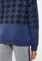 ONLY - Telma houndstooth knit - blue