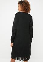 edit - Longer length cardigan - black