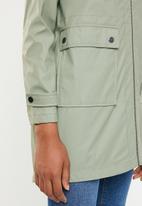 New Look - Longline anorak parker jacket - green