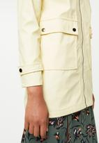 New Look - Longline anorak parker jacket - yellow