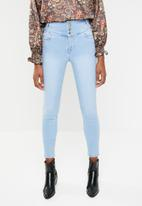 New Look - High waisted skinny jeans - blue