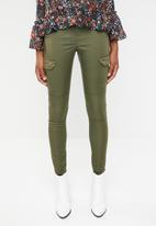 Vero Moda - Seven cargo zip pants - green
