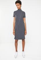 Noisy May - Alana short sleeve stripe - navy & white