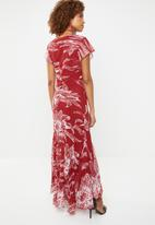 G Couture - Short sleeve maxi dress - red