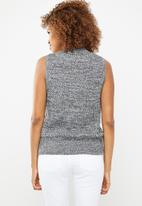 STYLE REPUBLIC - Sleeveless turtleneck crop jersey - grey