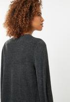 edit - Essential longer length cardigan  - black