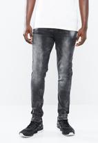 S.P.C.C. - Trench denim jeans - black