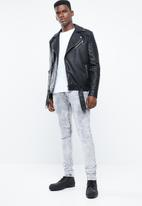 S.P.C.C. - Trench active knitback jeans with knee darts - grey
