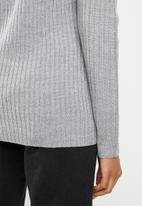 edit - Essential ribbed round neck jersey - grey