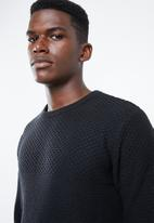 Superbalist - Relaxed fit textured knit - black