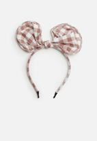 Superbalist - Kids girls check ear shape head band - pink