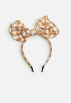 Superbalist - Kids girls check ear shape head band - orange