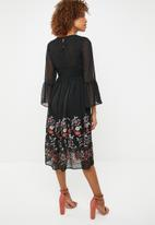 ONLY - Vanilla embroidered dress - black