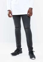 Only & Sons - Warp skinny knee cut jeans - grey