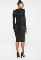 Missguided - V plunge dress - black