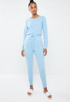 Missguided - Casual loungewear jumpsuit - blue