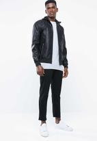 Only & Sons - Brixton PU jacket - black