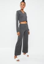 Missguided - Notch front flared leg lounge set - grey