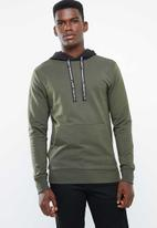 Only & Sons - Danny contrast sweat hood - green