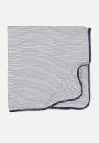 Cotton On - Newborn wrap blanket - navy & white