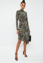 Superbalist - Midi dress with slit - multi
