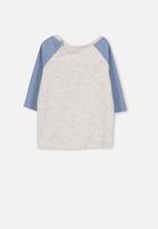 Cotton On - Freddie long sleeve tee - blue & grey