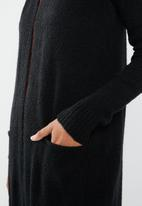 Superbalist - Mid length coatigan - black
