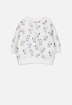 Cotton On - License skyler drop shoulder crew - black & white