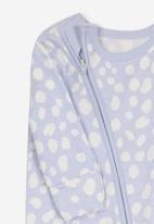 Cotton On - Mini zip through romper - purple & white